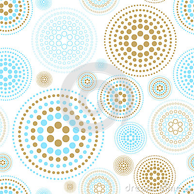 Free Vector Fabric Circles Abstract Seamless Pattern Background  With Hand Drawn Elements Stock Photo - 62498950