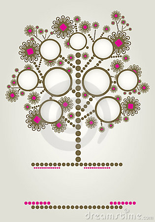 Vector Family Tree Design With Frames Stock Photo - Image: 20142390