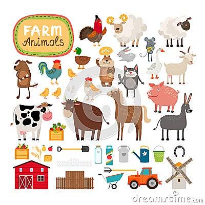 Free Vector Farm Animals Royalty Free Stock Photography - 51272407