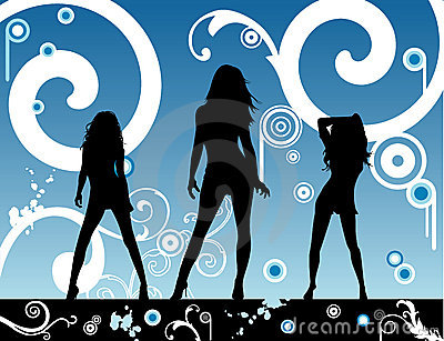 Vector fashion party illustration