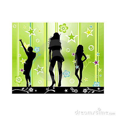 Vector fashion party illustration