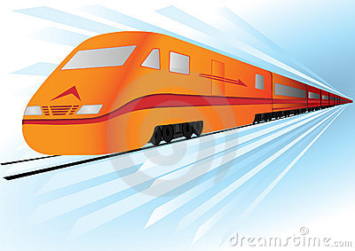 vector Fast high speed  train