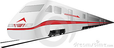 vector Fast, high speed  train