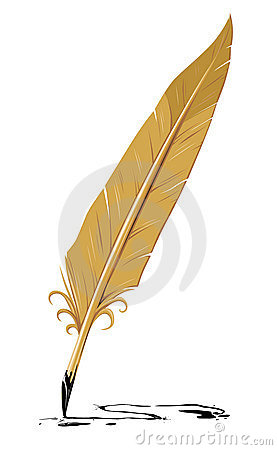 Vector feather old writing tool