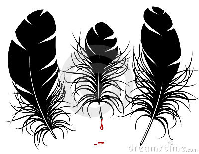 Vector feather silhouette