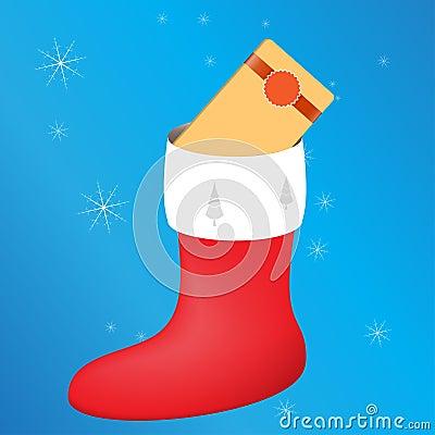 Vector festive sock