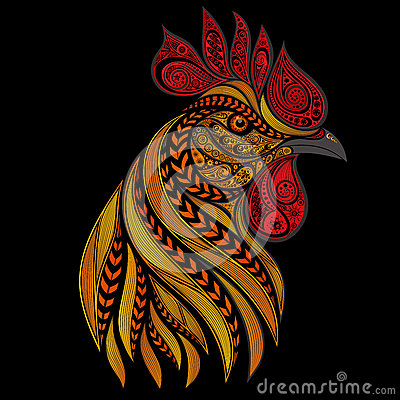 Free Vector Fiery Rooster On New Year S Royalty Free Stock Photo - 68580625
