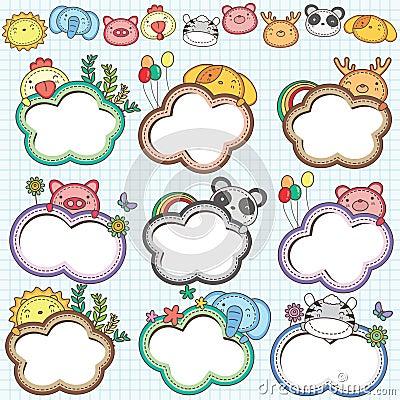Animal Cloud Frames Set 2