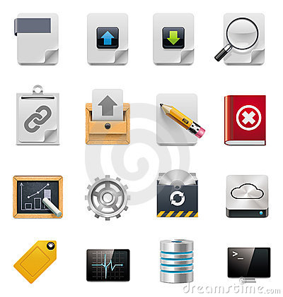 Free Vector File Server Administration Icon Set Stock Photography - 20610392