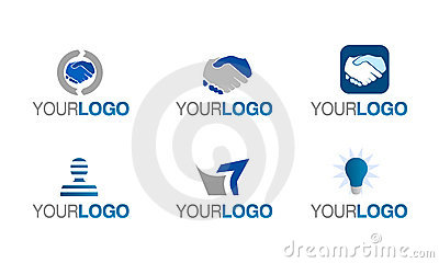 Vector financial trust logo set
