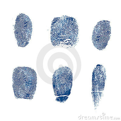 Vector finger prints police