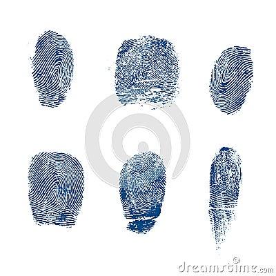 Vector finger prints police