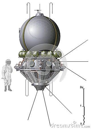 Free Vector First Spaceship Stock Photos - 18784463