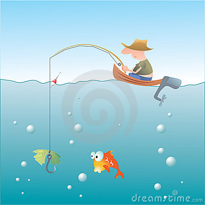 Free Vector. Fishing Royalty Free Stock Images - 6278919