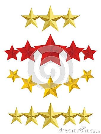 Vector Five golden stars
