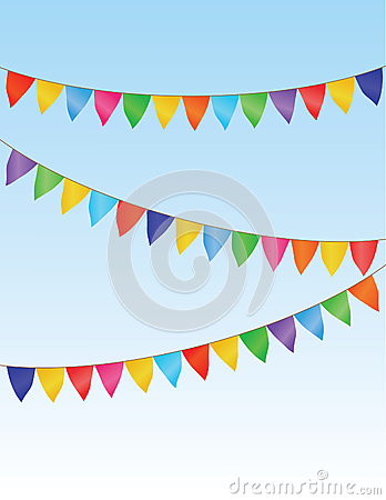 Vector flag garland