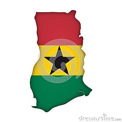 Vector Flag Ghana