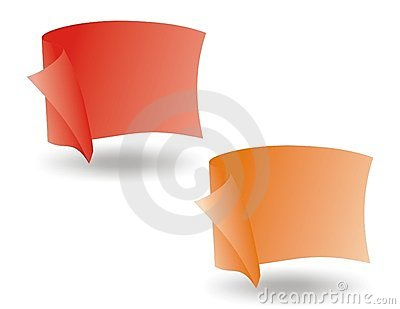 Vector flag red and orange