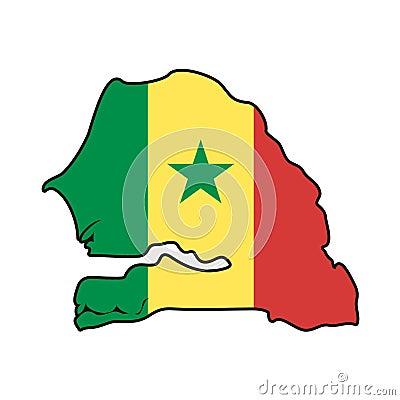 Vector Flag Senegal