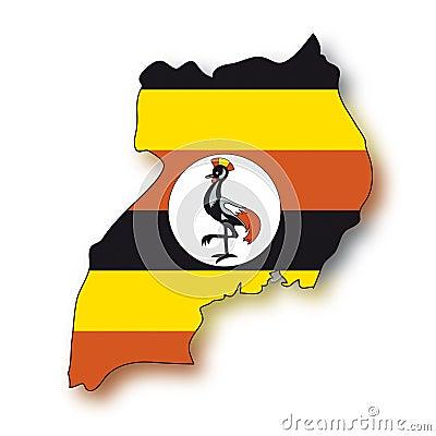 Vector Flag Uganda