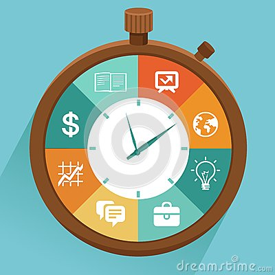 Free Vector Flat Concept - Time Management Royalty Free Stock Image - 36558246