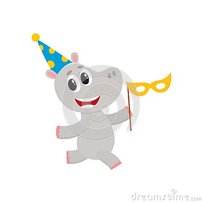 Free Vector Flat Hippo Character Having Fun Running Royalty Free Stock Photos - 101185368