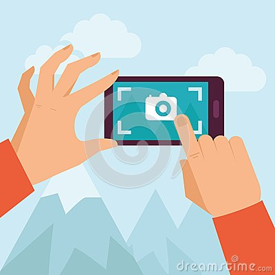 Free Vector Flat Illustration -mobile Photography Stock Photos - 37232553