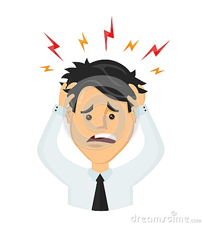 Free Vector Flat Man Businessman With A Headache Royalty Free Stock Image - 100675596