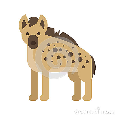 Free Vector Flat Style Illustration Of Hyena. Royalty Free Stock Photos - 87371318