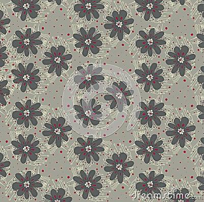 Vector  floral background, pattern