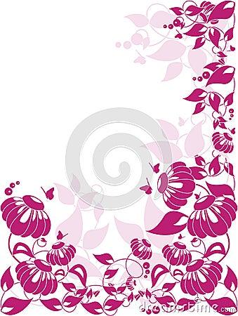 Vector floral border