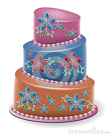 vector  floral cake