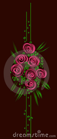 vector floral design on black background