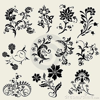 Vector floral design elements...