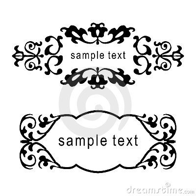 Free Vector Floral Frames Royalty Free Stock Images - 1933879