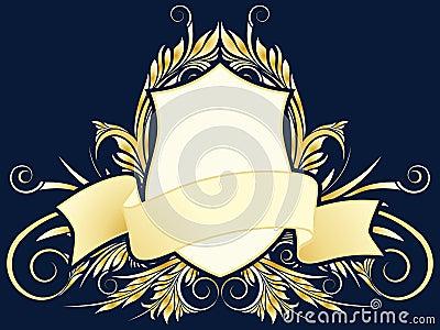 Vector floral heraldic plate