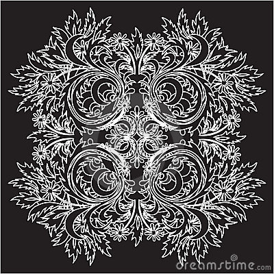 Vector floral lace