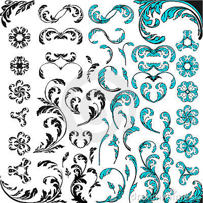 Free Vector Floral Ornament Elements Stock Photography - 2012862