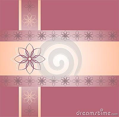 Pink floral ornamental borders