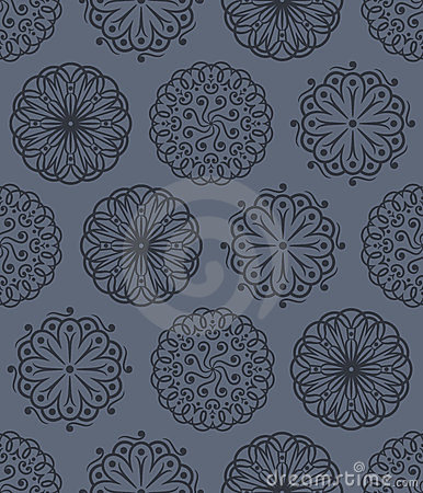 Vector floral ornaments seamless pattern