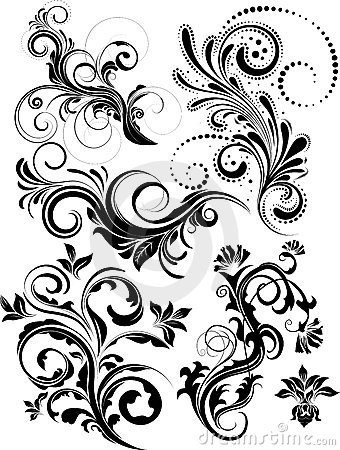 Free Vector Floral Pack Royalty Free Stock Photo - 10843705