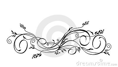 Vector floral scroll ornament