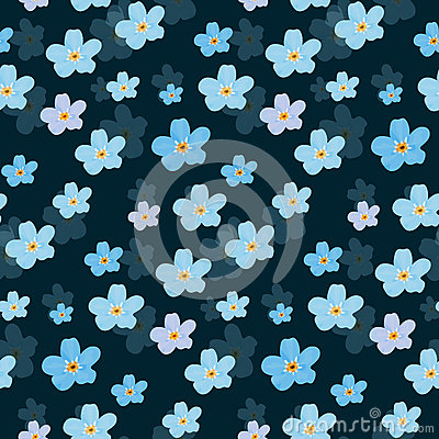 Free Vector Floral Seamless Pattern. Illustration Of Flowers Royalty Free Stock Photo - 92135625