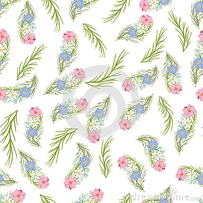 Vector floral seamless pattern 2 Stock Photo