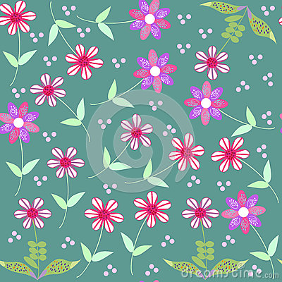 Vector floral seamless pattern and seamless patter