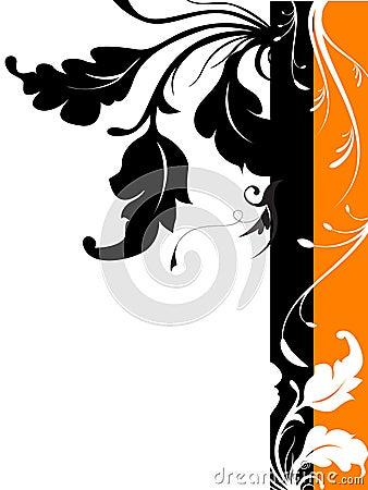Vector Floral Silhouette Desig