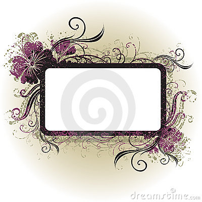 Free Vector Floral Vintage Frame Stock Photography - 10633252