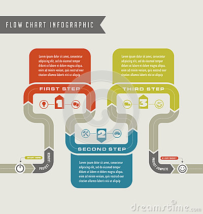 Vector Flow Chart Template Infographic Stock Vector - Image: 62363439
