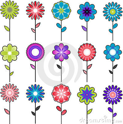 Free Vector Flower Designs Royalty Free Stock Photo - 14436815