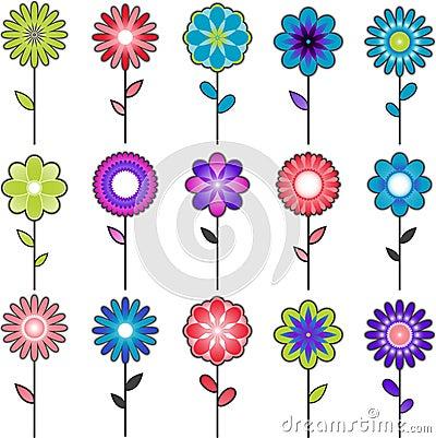 Vector flower designs